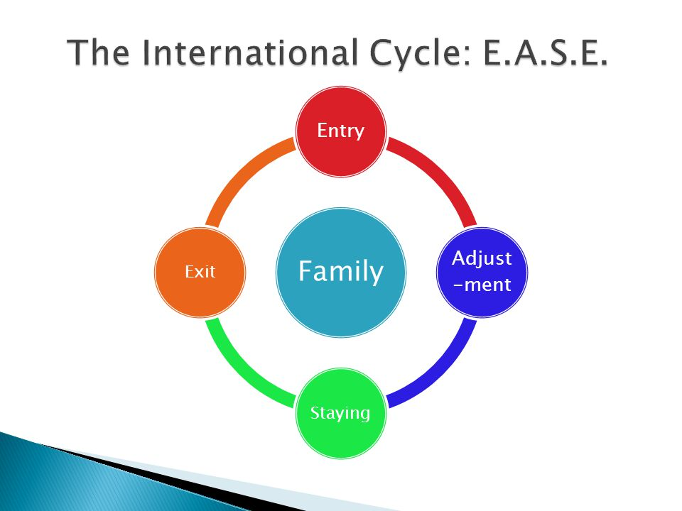 Family Entry Adjust -ment StayingExit