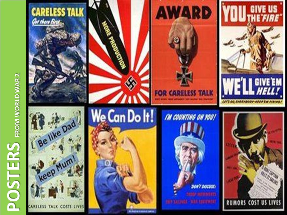 POSTERS FROM WORLD WAR 2