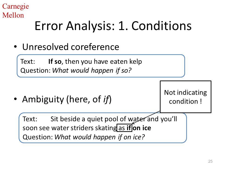 Carnegie Mellon Error Analysis: 1.