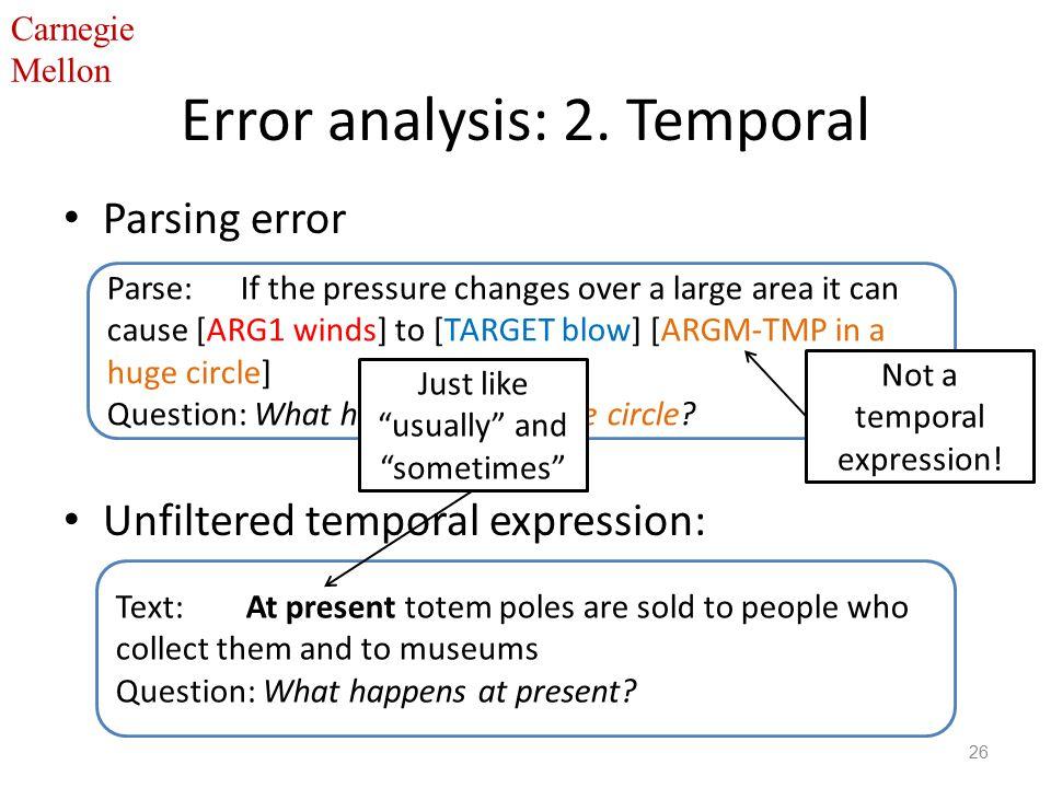 Carnegie Mellon Error analysis: 2.
