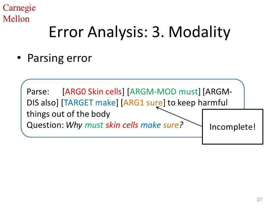 Carnegie Mellon Error Analysis: 3.