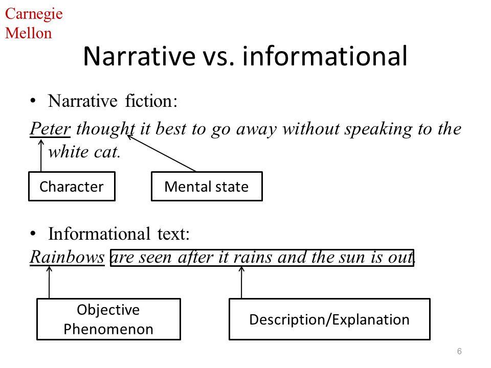 Carnegie Mellon Narrative vs.