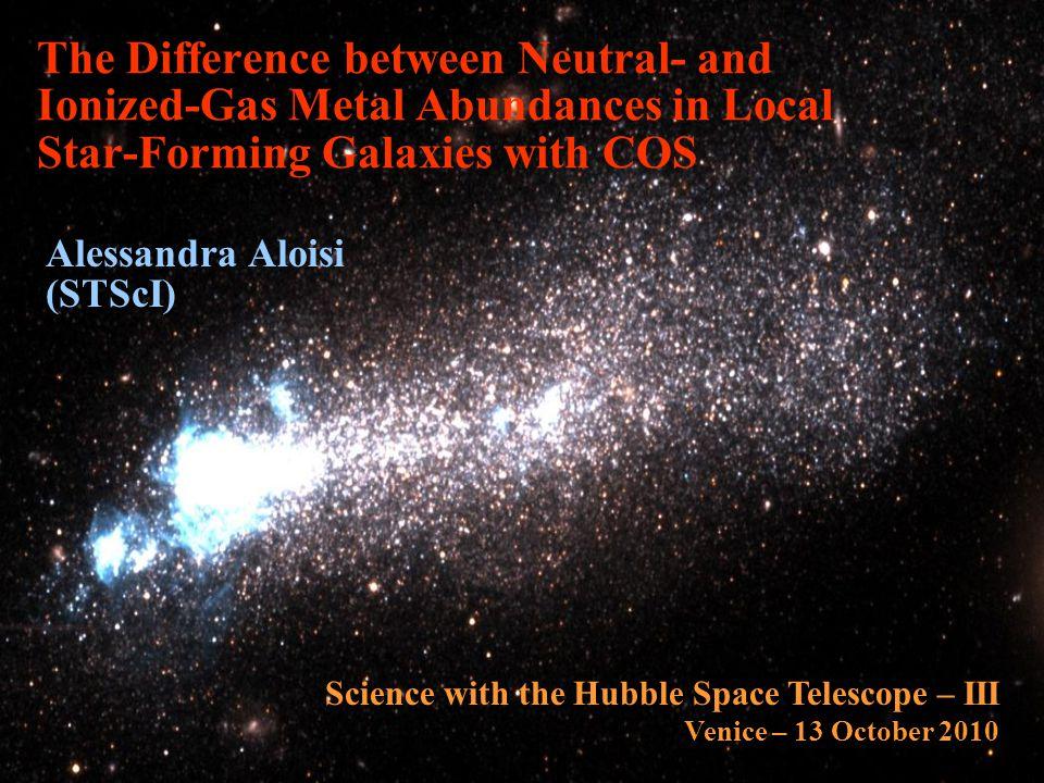 COS Observations of SBS 1415+437 MMT COS UV Source metal-poor BCD D  13.6 Mpc M     Z  1/20 Z  Age (HII regions)  Myr FUSE data with S/N  low) Nebular emission-line long-slit (1.5 x5 ) spectra from MMT (Thuan et al.