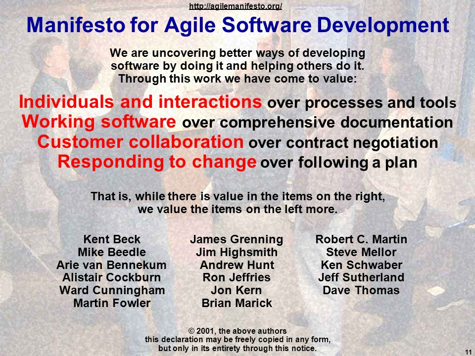 3:11 rick.dove@stevens.edurick.dove@stevens.edu, attributed copies permitted Manifesto for Agile Software Development We are uncovering better ways of developing software by doing it and helping others do it.