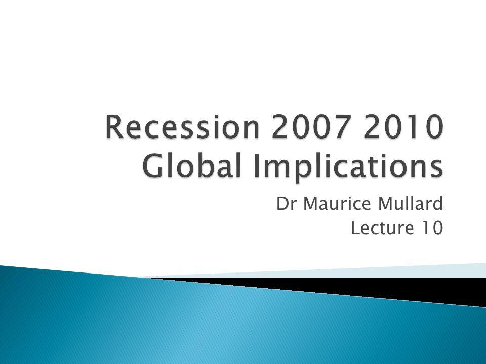 Dr Maurice Mullard Lecture 10