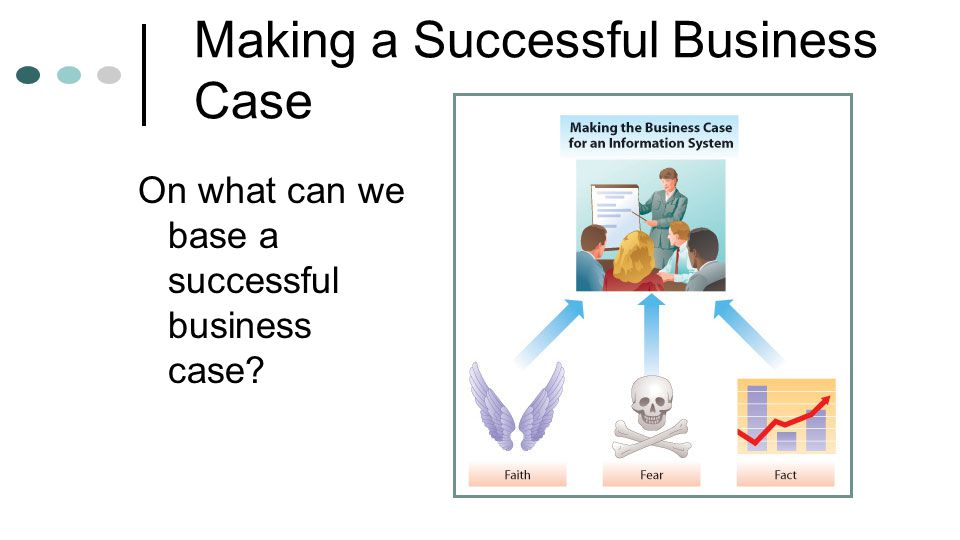 Making a Successful Business Case On what can we base a successful business case?