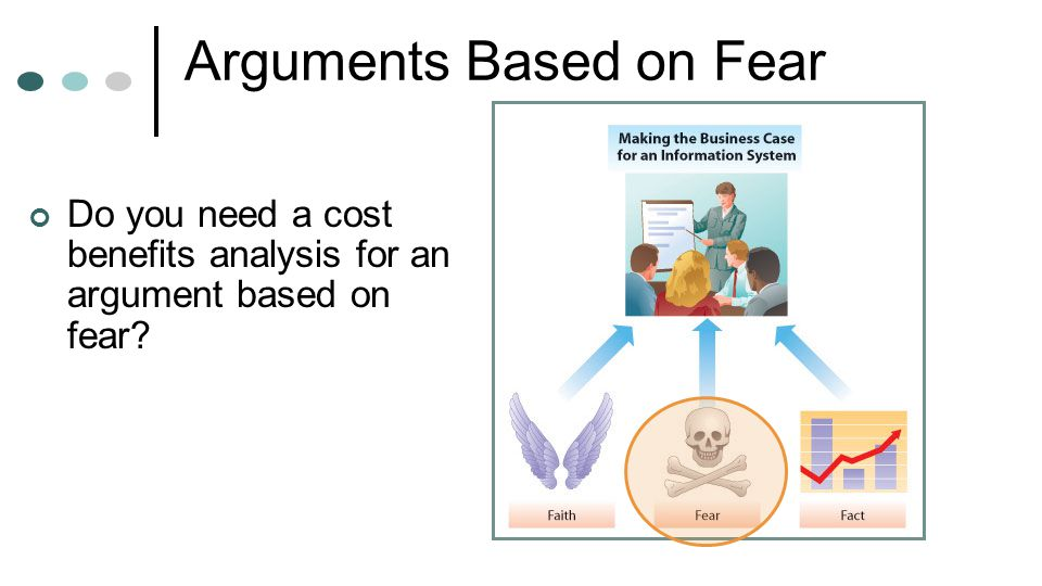 Arguments Based on Fear Do you need a cost benefits analysis for an argument based on fear?