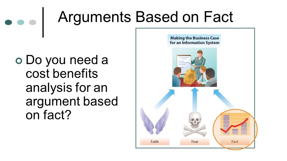 Arguments Based on Fact Do you need a cost benefits analysis for an argument based on fact?
