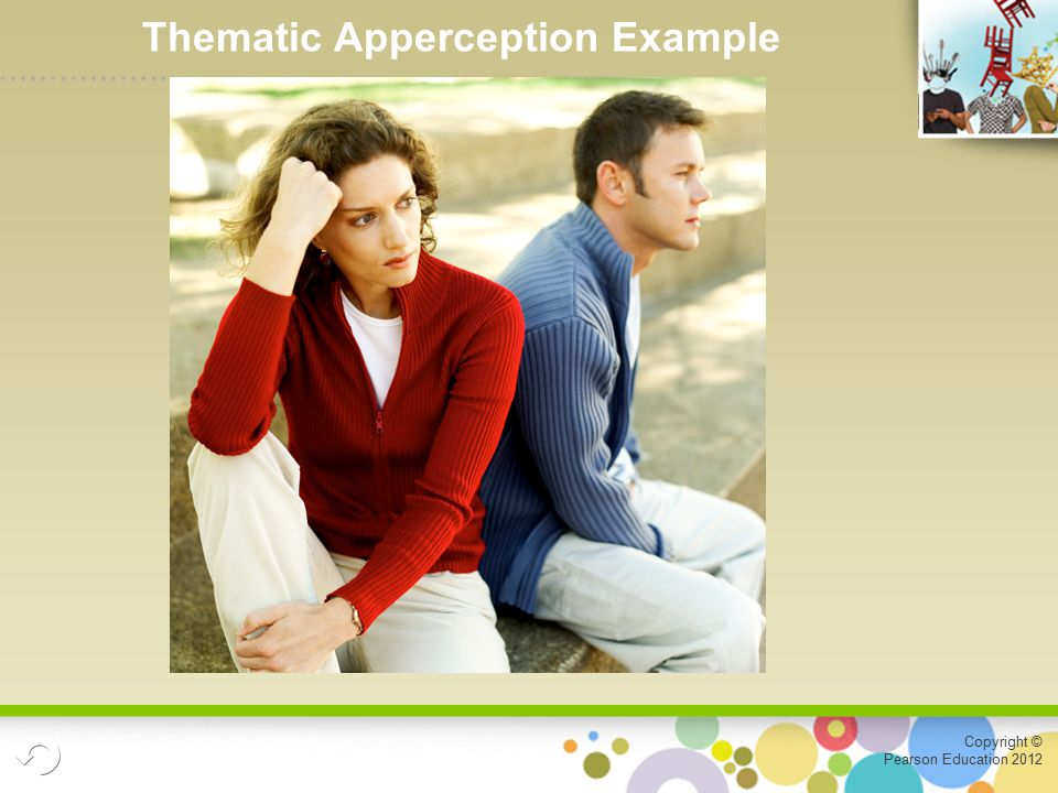 Copyright © Pearson Education 2012 Thematic Apperception Example