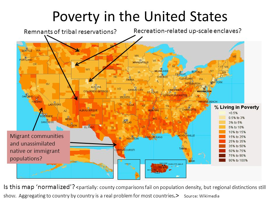 Poverty in the United States Remnants of tribal reservations.