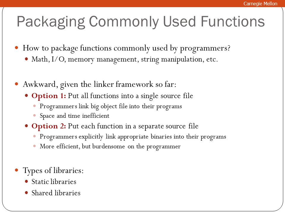 Packaging Commonly Used Functions How to package functions commonly used by programmers.