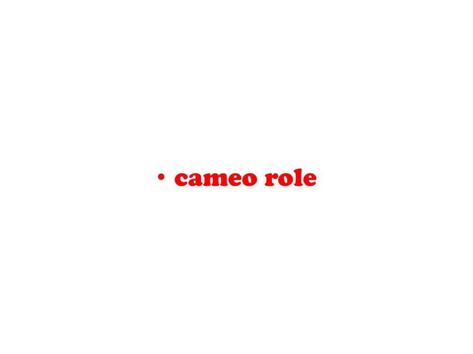 cameo role