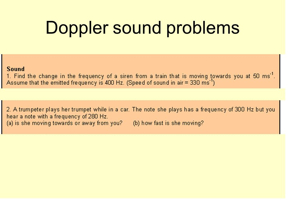 Doppler sound problems