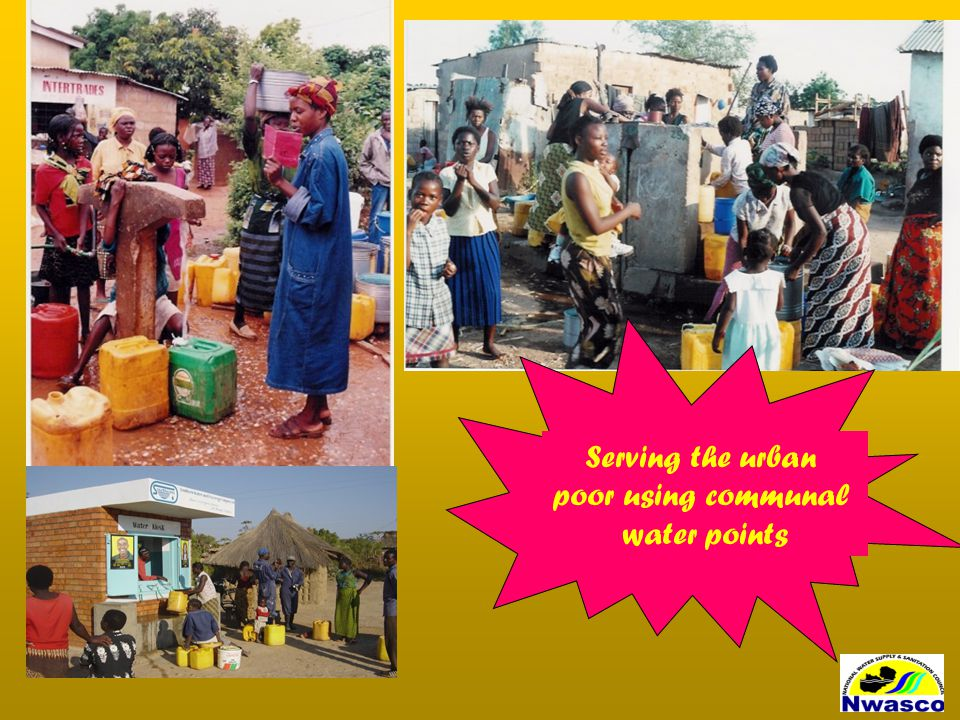 Serving the urban poor using communal water points