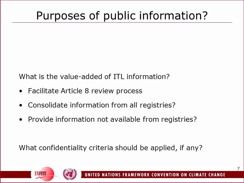8 Public information types.