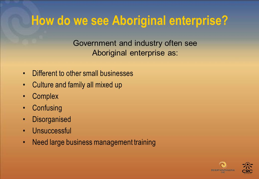 How do we see Aboriginal enterprise.