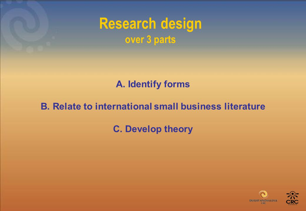 Research design over 3 parts A. Identify forms B.