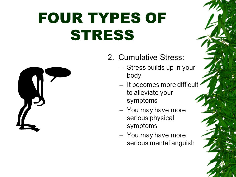 FOUR TYPES OF STRESS 2.