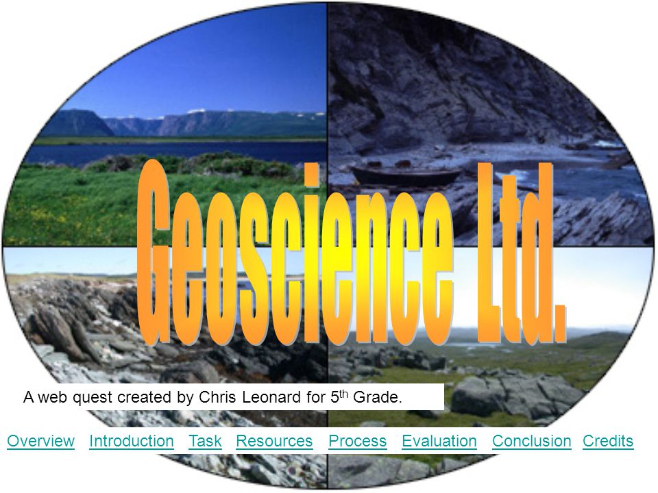 A web quest created by Chris Leonard for 5 th Grade. OverviewOverview Introduction Task Resources Process Evaluation Conclusion CreditsIntroductionTas