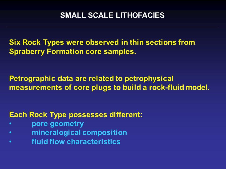 Six Spraberry Rock Types Very Fine Sandstone and Coarse Siltstones, Reservoir Rock : Rock Type A V.F.