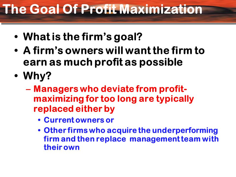 Why Are There Profits.