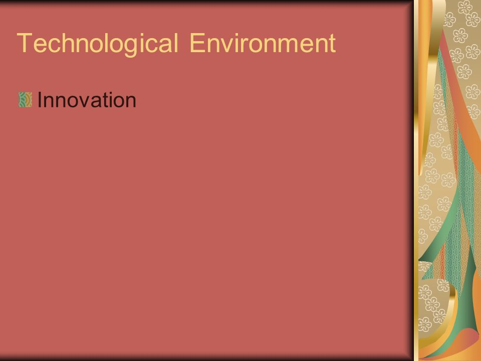 Technological Environment Innovation