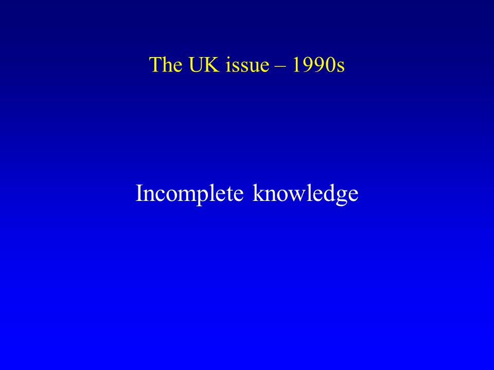Meeting of UKHCDO in 1997 Spongiform Encephalopathy Advisory Committee (SEAC) Centre for Surveillance of CJD
