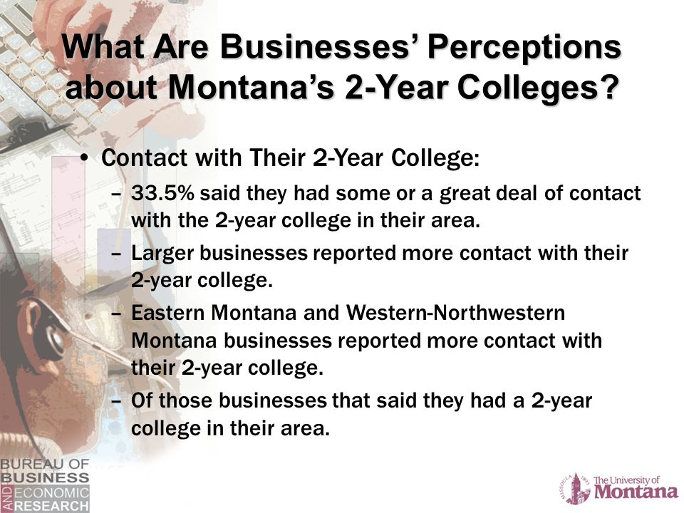Contact with Their 2-Year College: –33.5% said they had some or a great deal of contact with the 2-year college in their area.