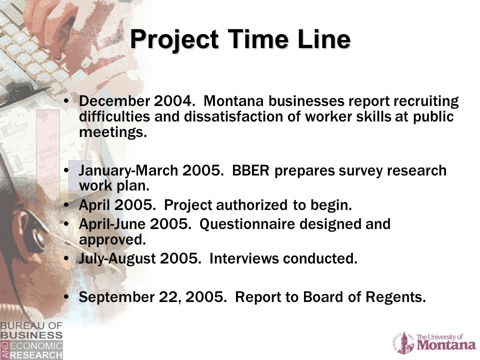 Project Time Line December 2004.