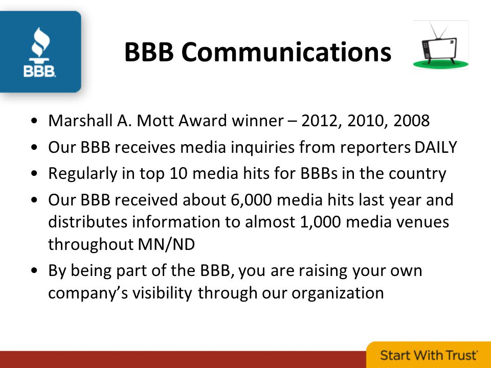 BBB Communications Marshall A.
