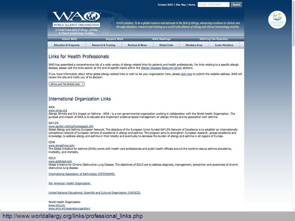 http://www.worldallergy.org/links/professional_links.php