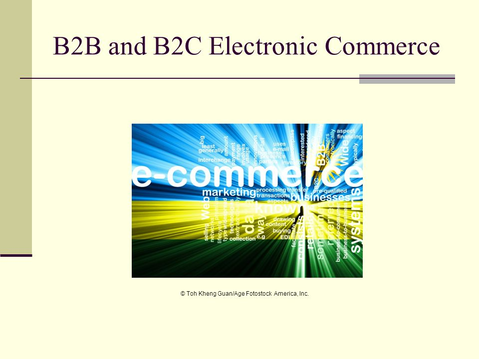 B2B and B2C Electronic Commerce © Toh Kheng Guan/Age Fotostock America, Inc.