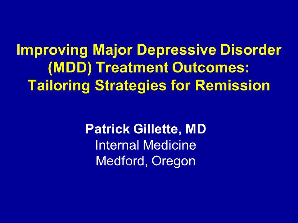 Maternal Depression Importance of Remission Weissman M, et al.