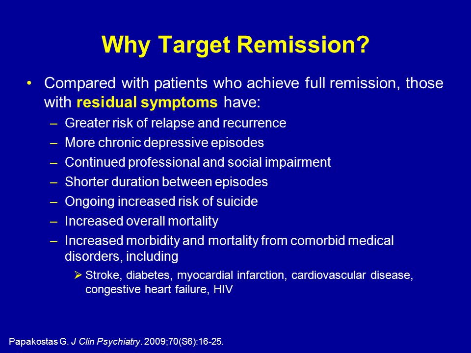 Why Target Remission.