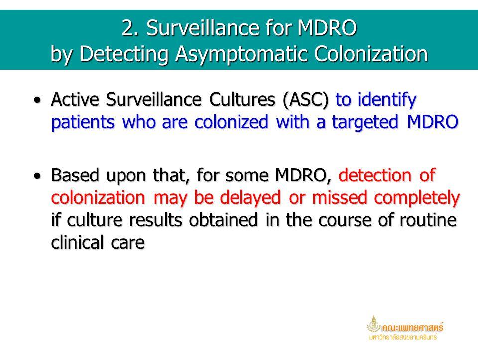 1.4 Molecular typing of MDRO isolates Many investigators have used molecular typingMany investigators have used molecular typing of selected isolates