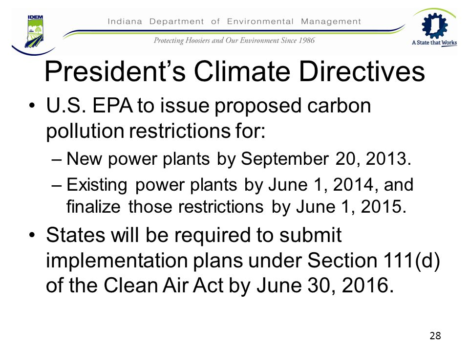 President's Climate Directives U.S.