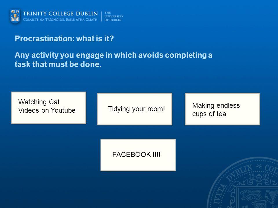 Procrastination: what is it.
