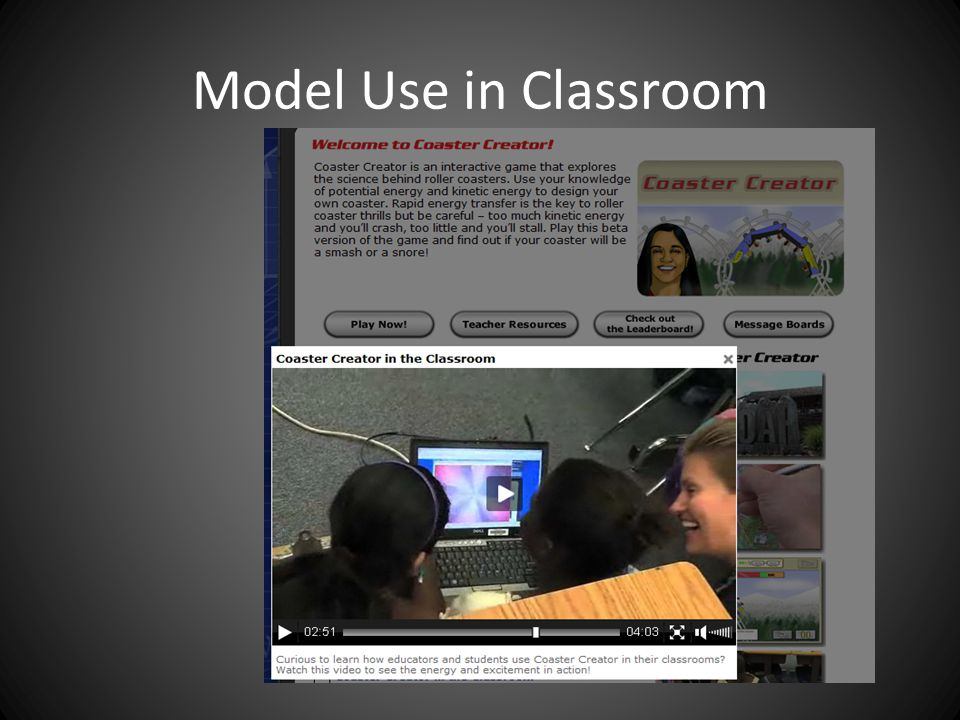 Model Use in Classroom
