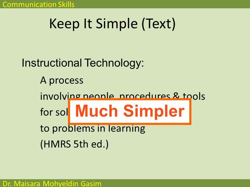 Communication Skills Dr.