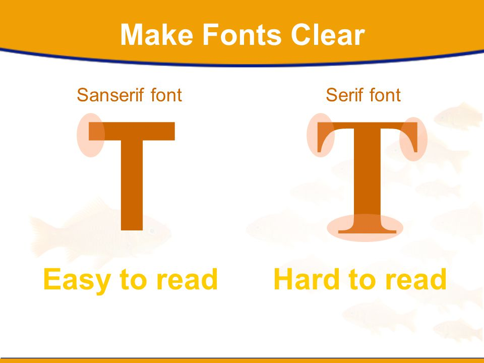 Make Fonts Clear T T Sanserif fontSerif font Easy to readHard to read