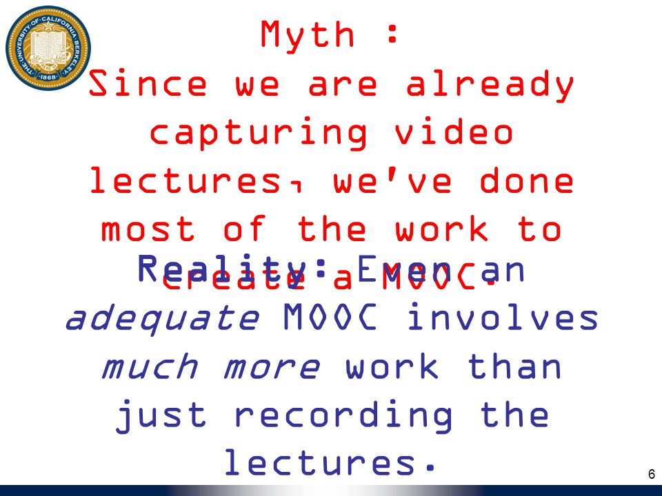 Want to do MOOC yourself.