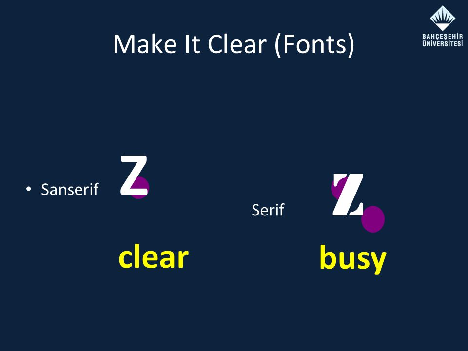 Make It Clear (Fonts) Sanserif Z Serif Z busy clear