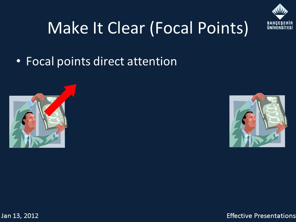 Jan 13, 2012Effective Presentations Make It Clear (Focal Points) Focal points direct attention