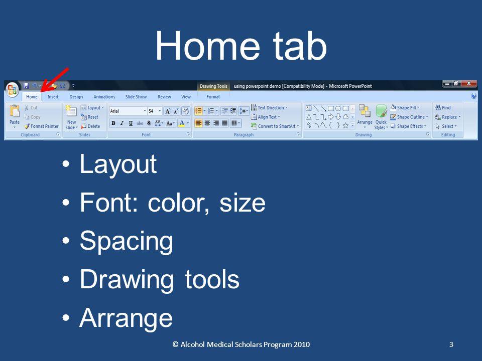 4 Slide layout