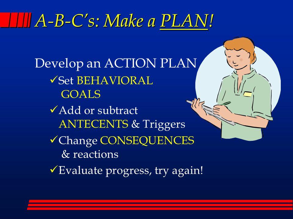 A-B-C's: Make a PLAN.