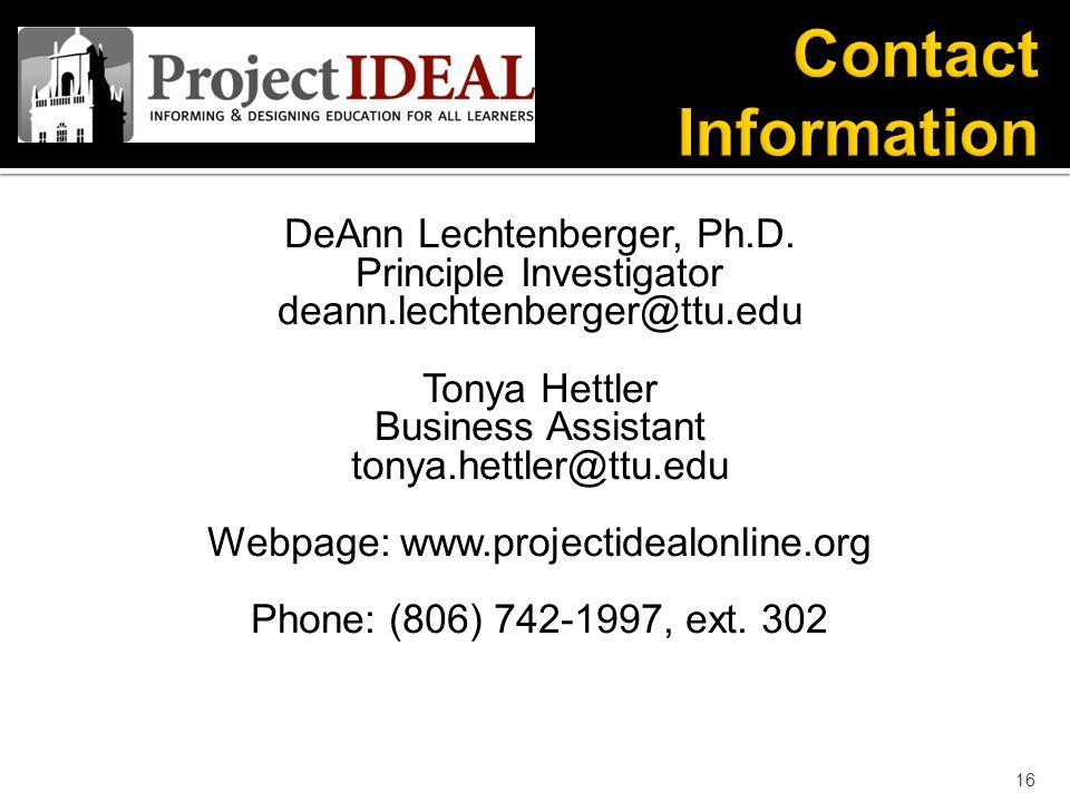 DeAnn Lechtenberger, Ph.D.