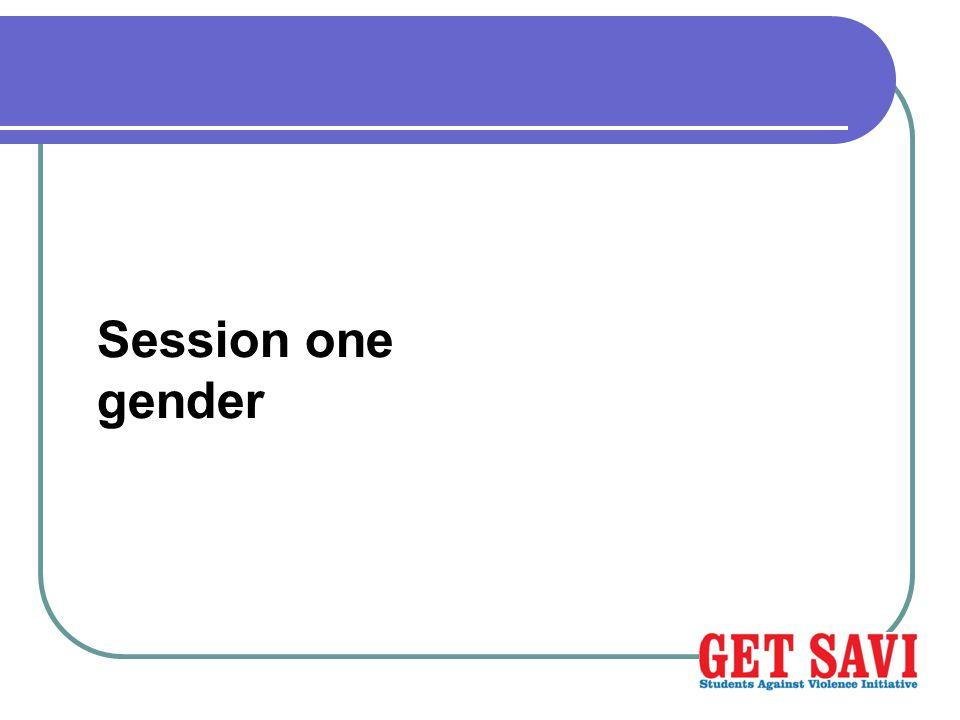 Session one gender