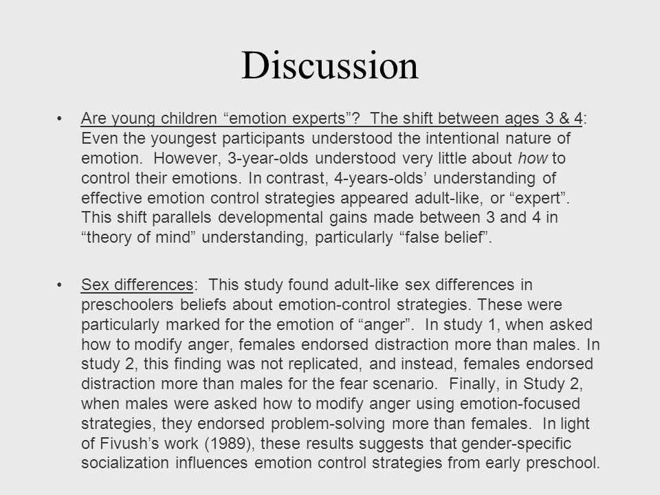 Discussion Are young children emotion experts .