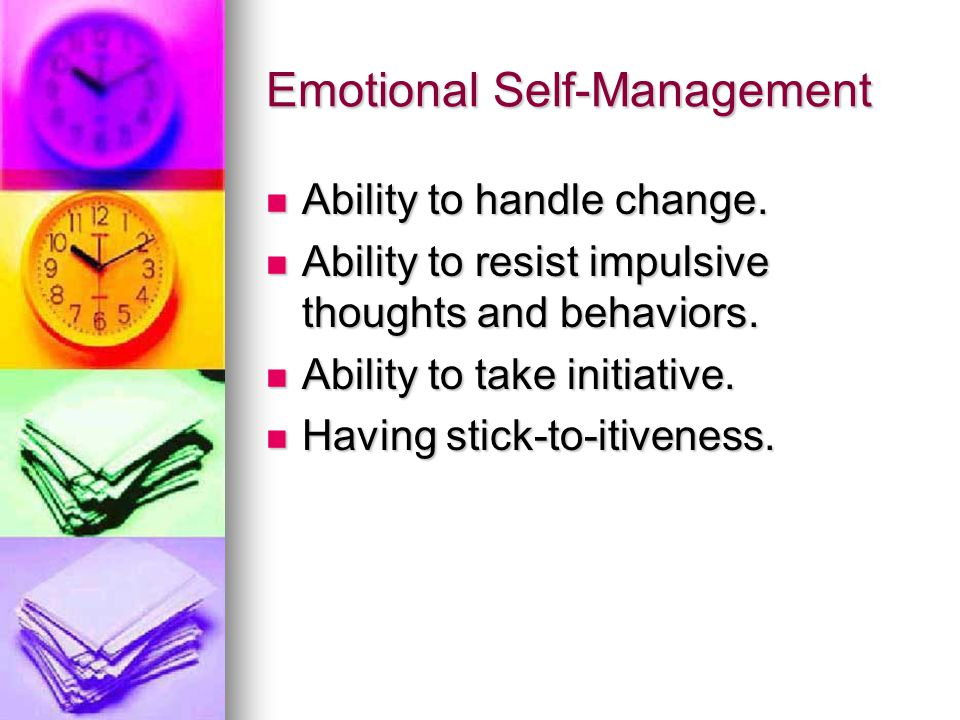 Choose your attitude Do you manage your emotions, or do they manage you?