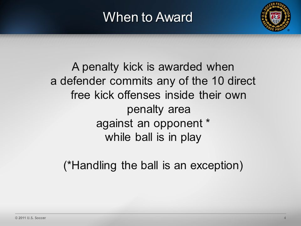 © 2011 U.S. Soccer5 Guide to Procedures Video